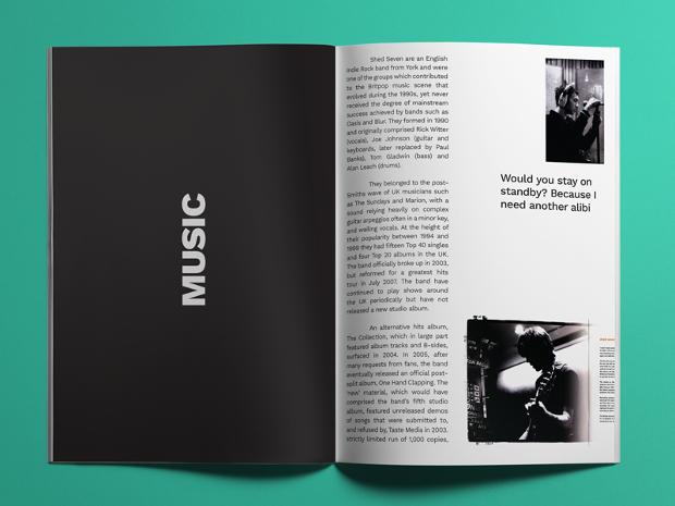 indie music magazine design