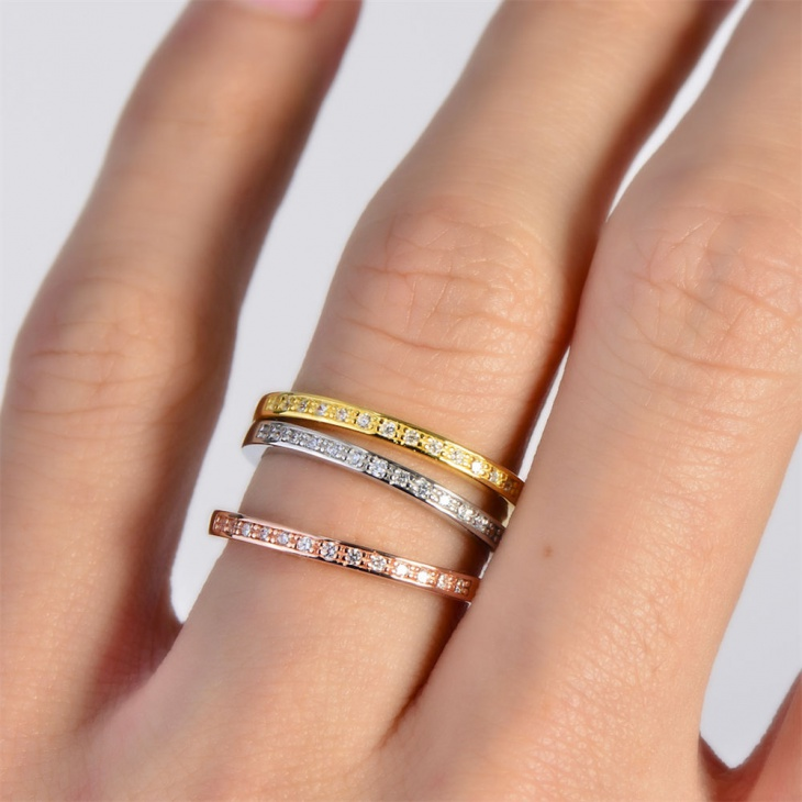 eternity rolling rings set