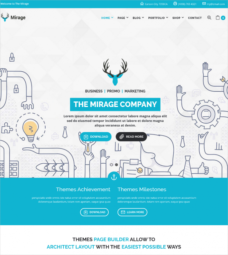 Business And Marketing WordPress Theme