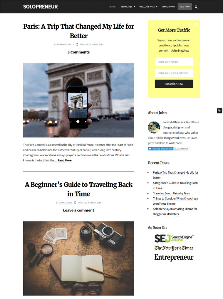 Blogging & Marketing WordPress Theme