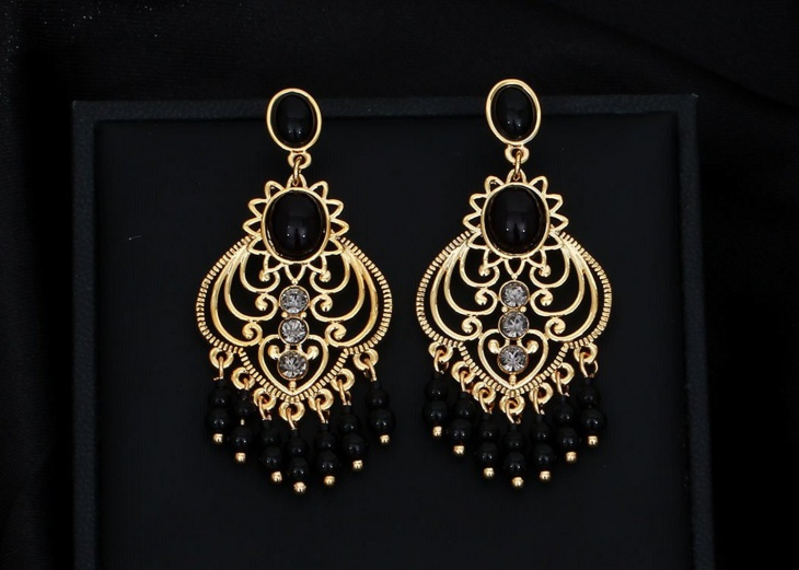 Beaded Swirl Earrings