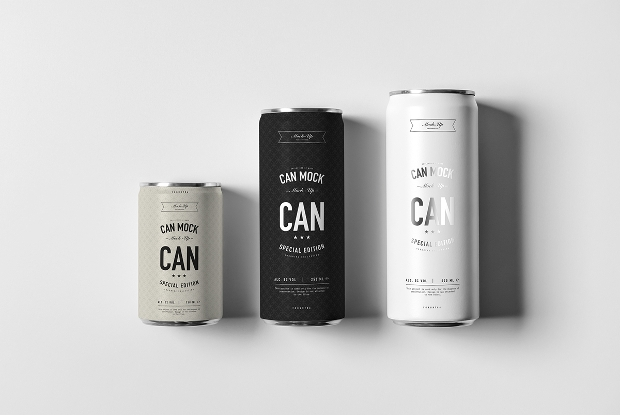 Tin Can Mockup Design