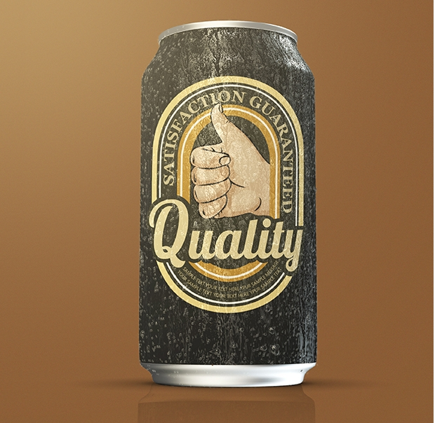 High Quality Soda Can Mockup