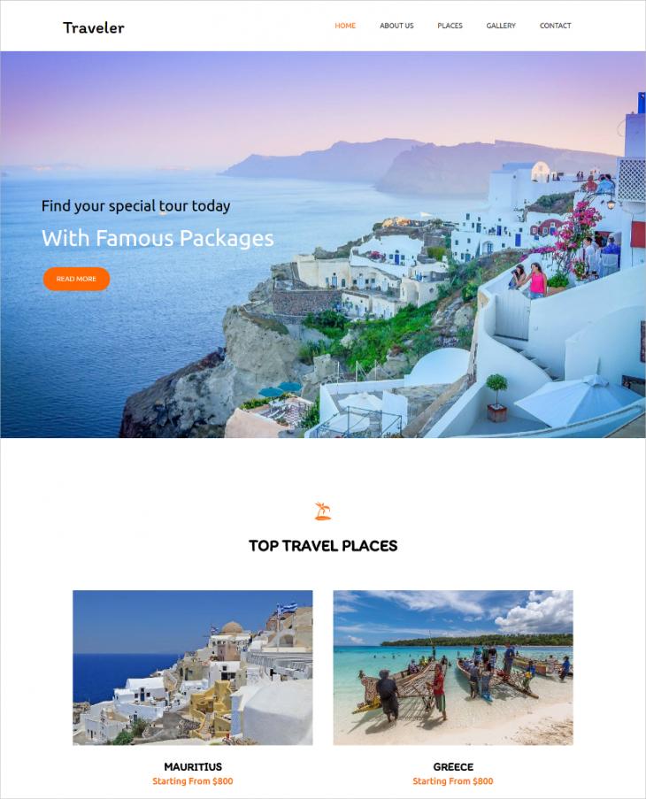 Unique Travel Agency Joomla Template