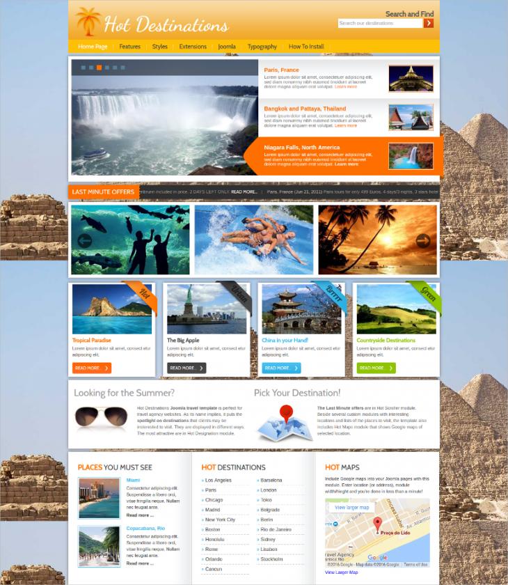 Perfect Travel Agency Joomla Theme