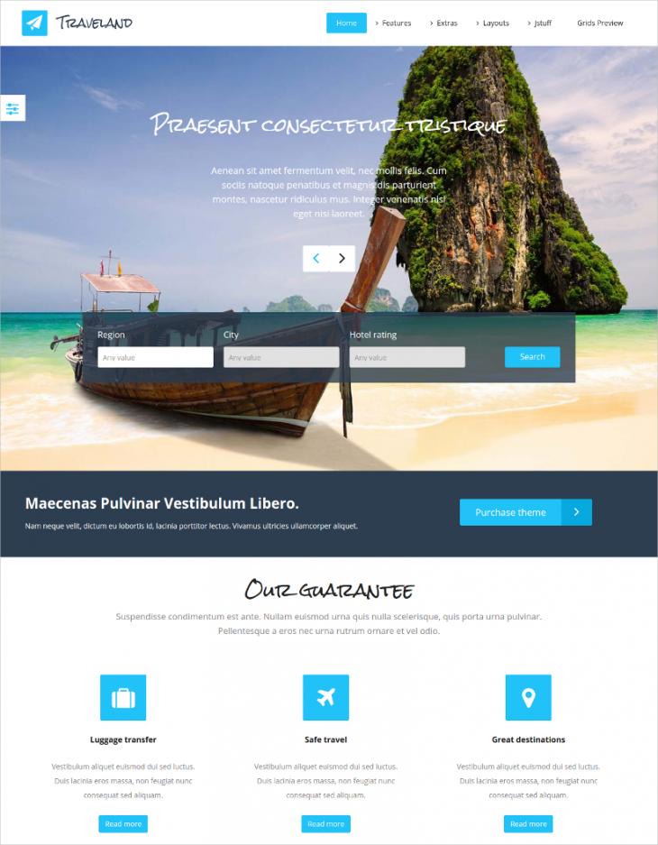 Flexible Travel Agency Joomla Theme