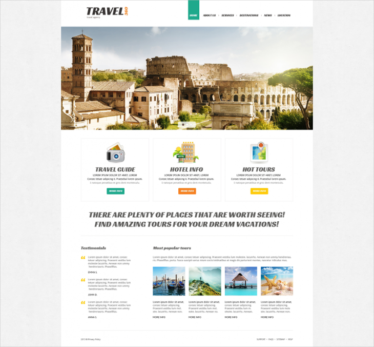 Travel Spot Joomla Template