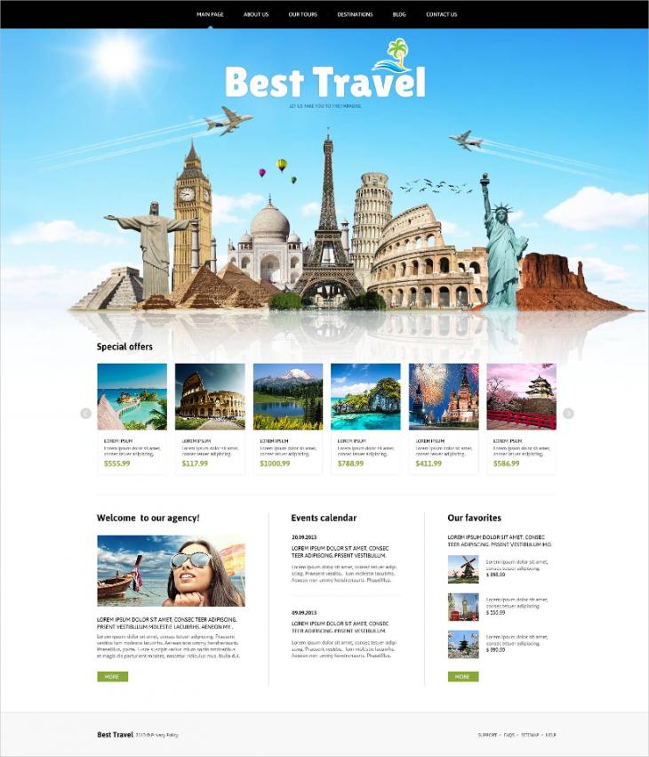 animated portfolio travelling responsive joomla theme