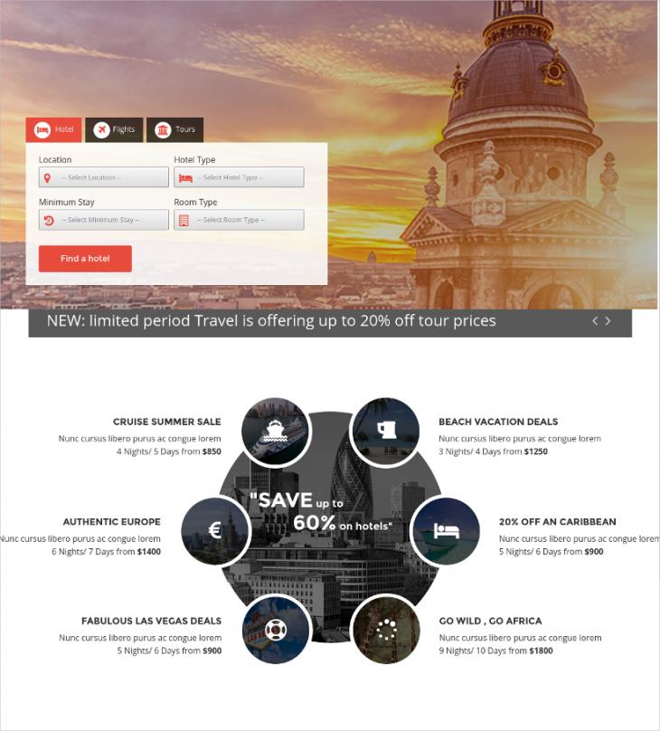 Ideal Travel Agency Joomla Theme