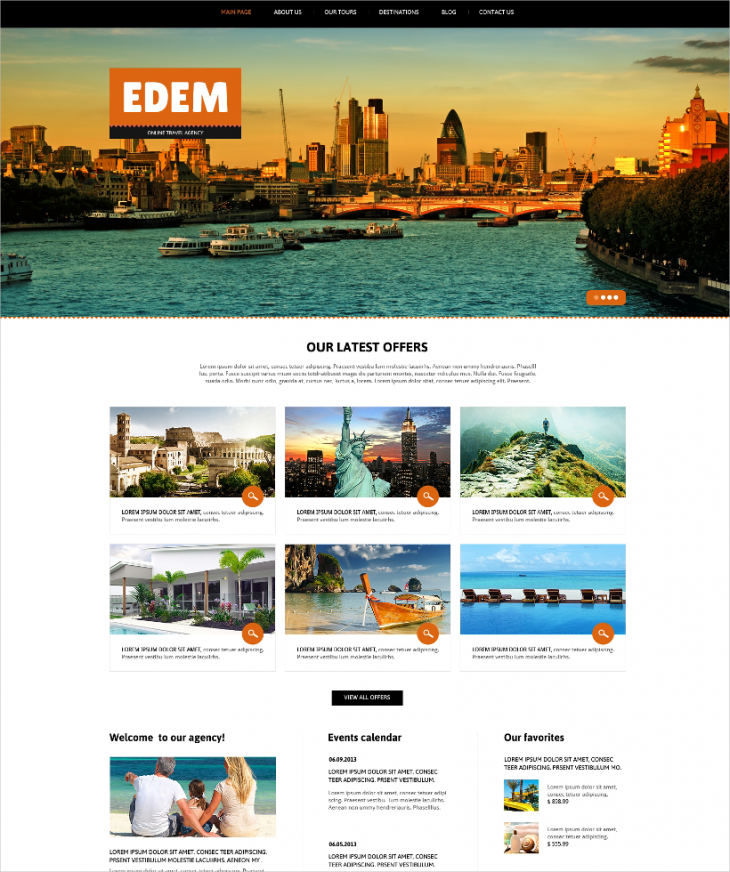 fully responsive travel agency joomla template