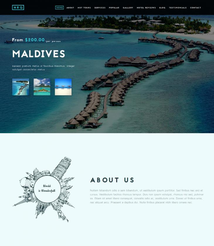 modern travel agency joomla theme