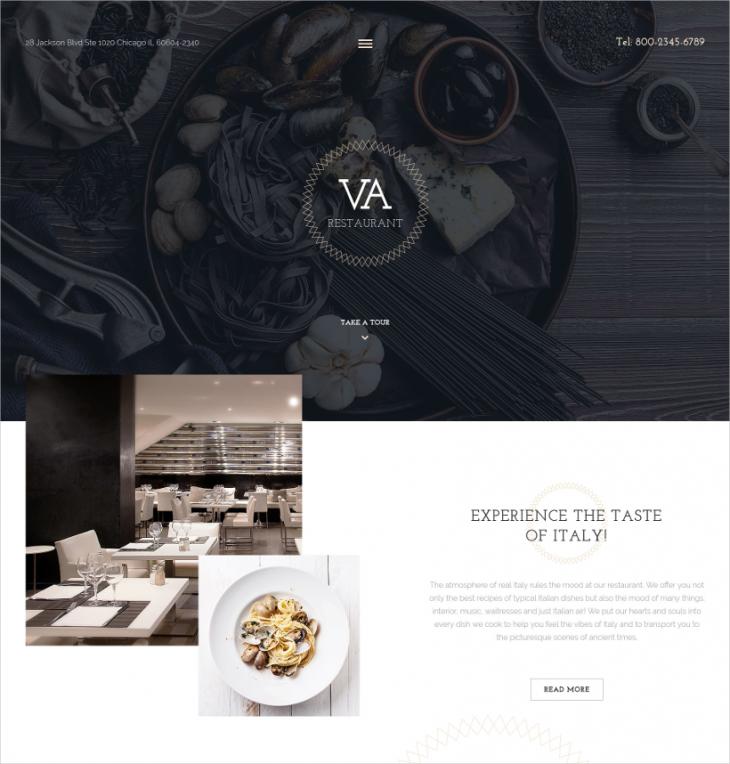 Premium Cafe & Restaurant Joomla Template