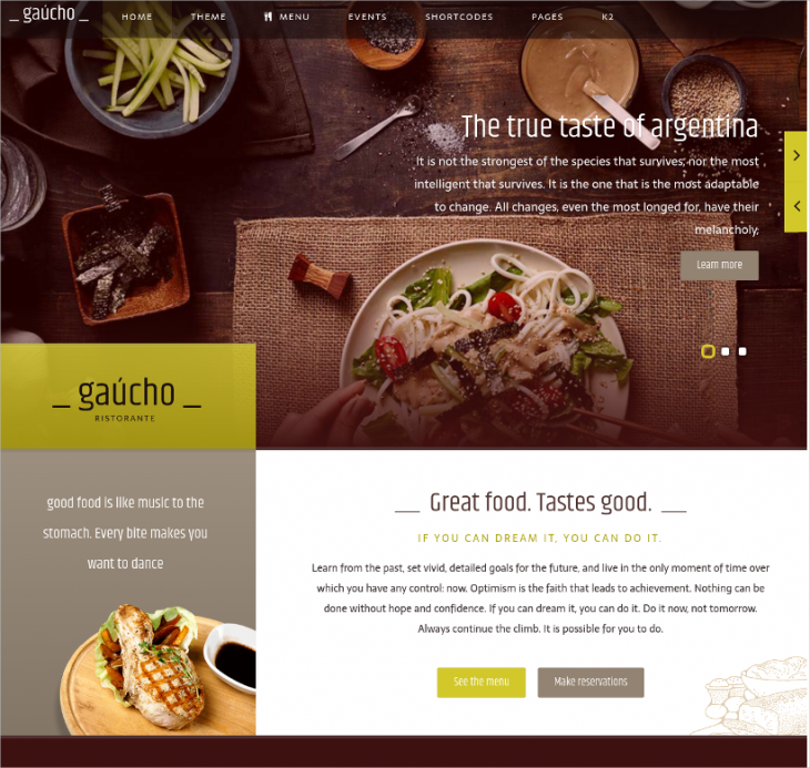 Coffee Shop Joomla Template