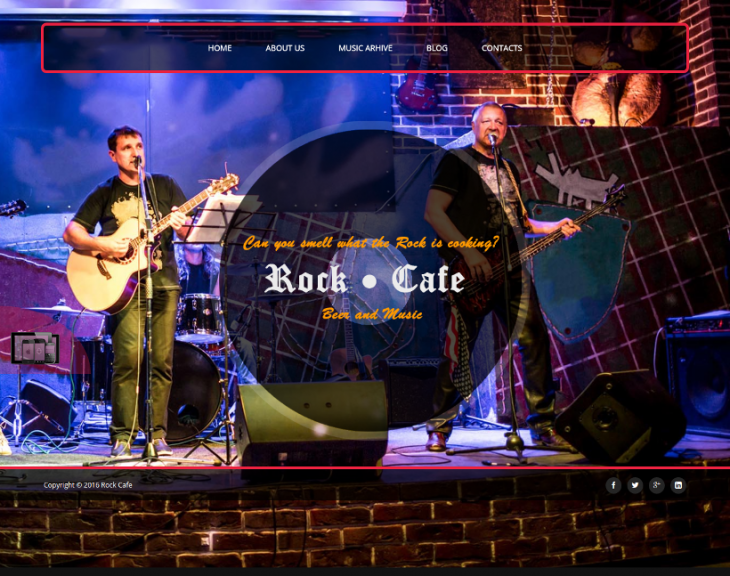 Bootstrap Rock Cafe Joomla Template