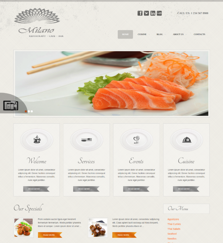 Custom Color Cafe Joomla Theme
