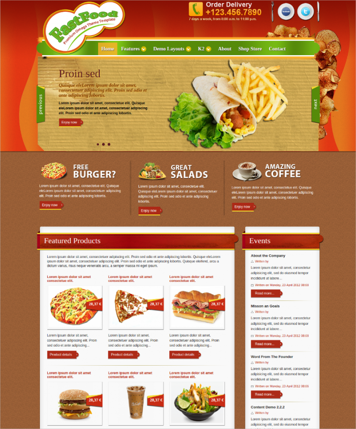 SEO Friendly Cafe Joomla Theme