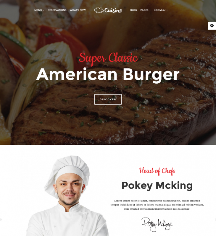 free responsive cafe joomla template