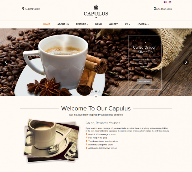 Multi Purpose Cafe Joomla Theme