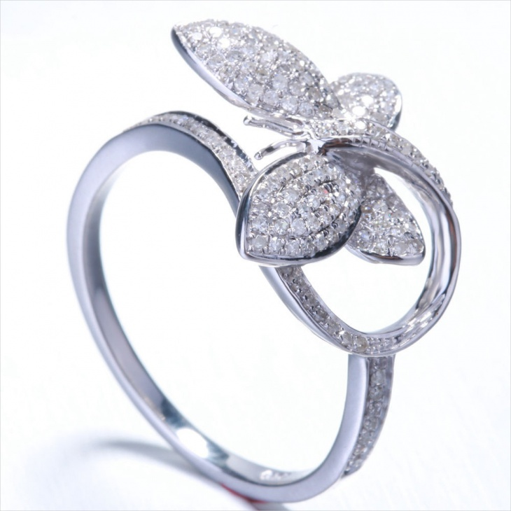 butterfly engagement ring design