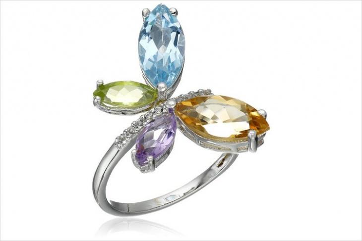 Butterfly Gemstone Ring