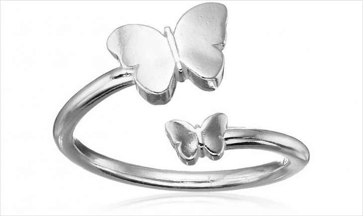 double butterfly ring design
