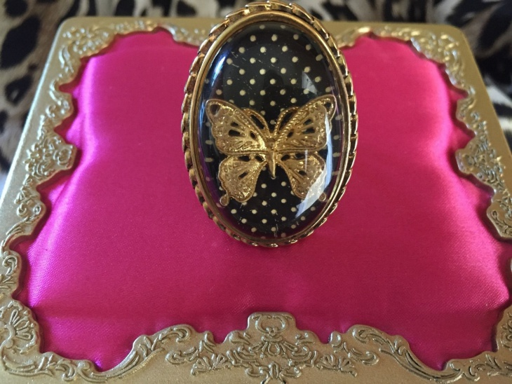 vintage butterfly ring