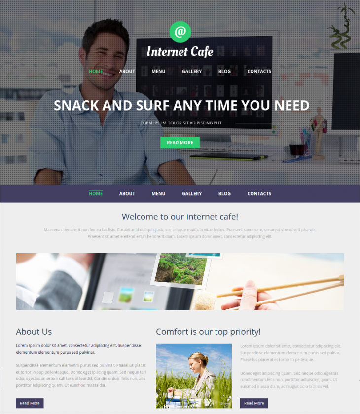 Responsive Internet Cafe Joomla Template