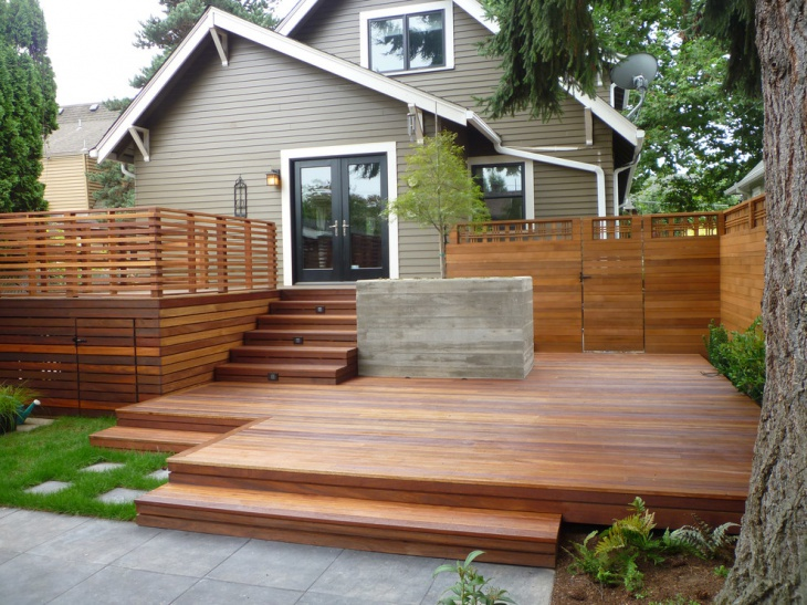 Outdoor Wooden Staircase Design