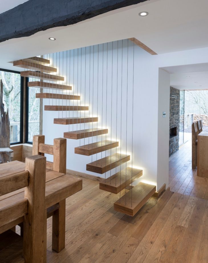 Open Wooden Staircase