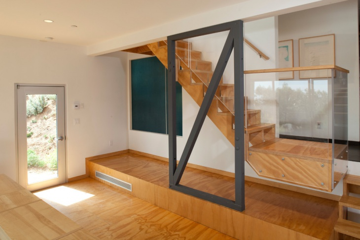 Wooden Glass Staircase