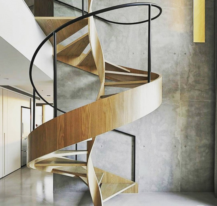 Wooden Spiral Staircase Idea