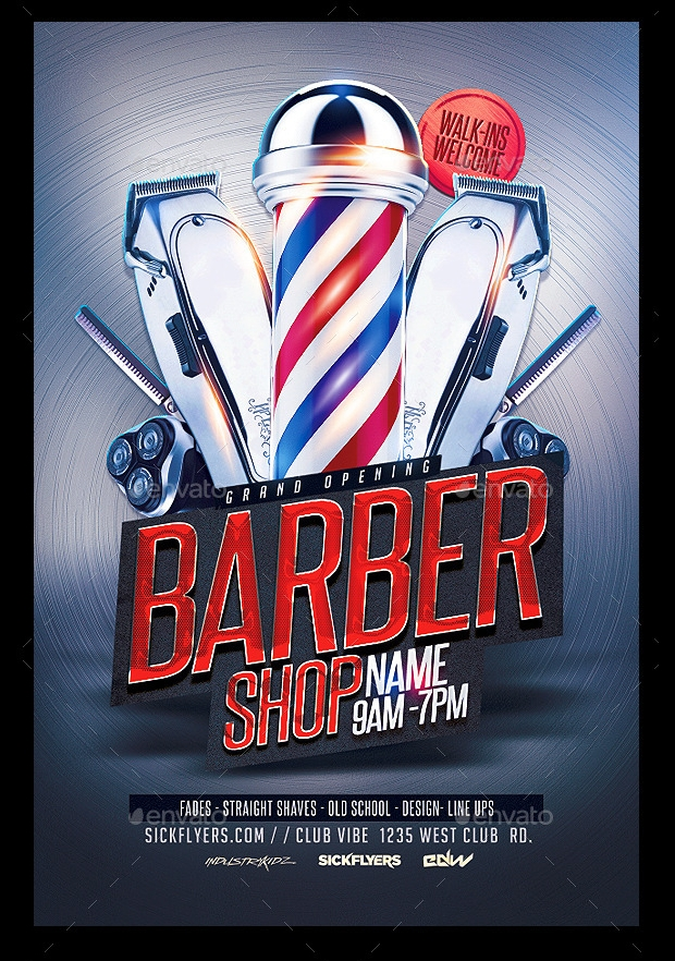 Barbershop PSD Flyer