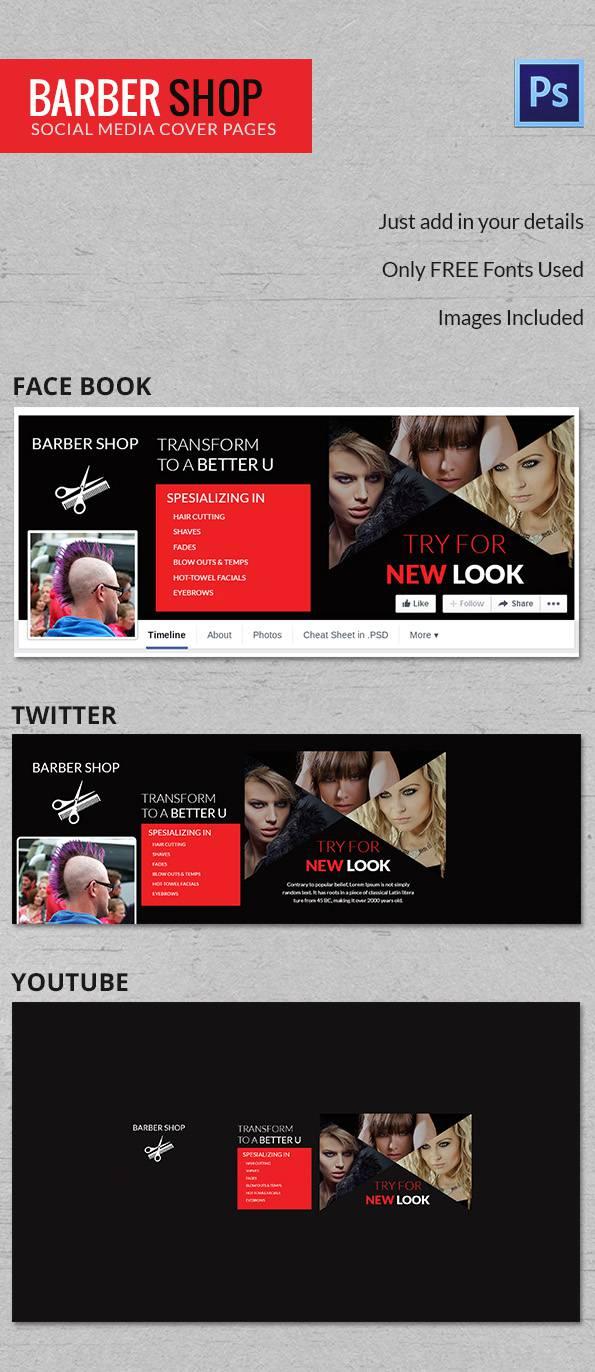 Online Barbershop Social Cover
