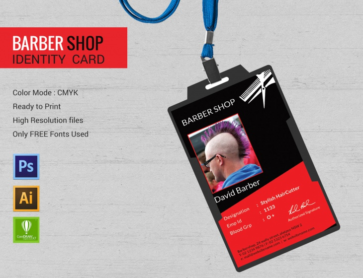 Identity Barbershop Template