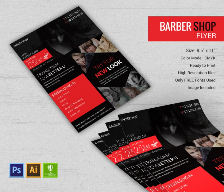 Professional Barbershop Flyer