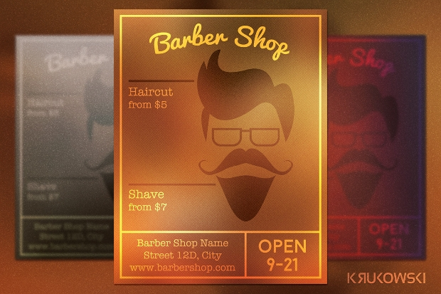 Barbershop Hipster Flyer