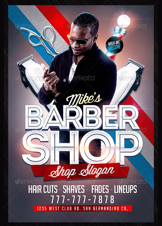 Modern Barbershop Flyer