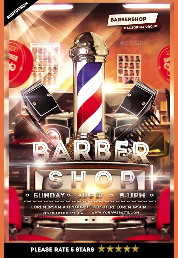 Beard Party and Barbershop Flyer