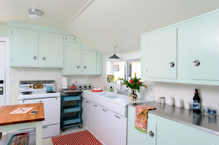 Vintage Enamel Kitchen Cabinets