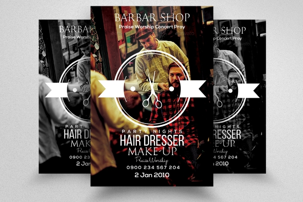 Black Barbershop Flyer