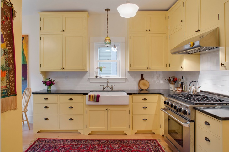 attractive vintage kitchen cabinet idea