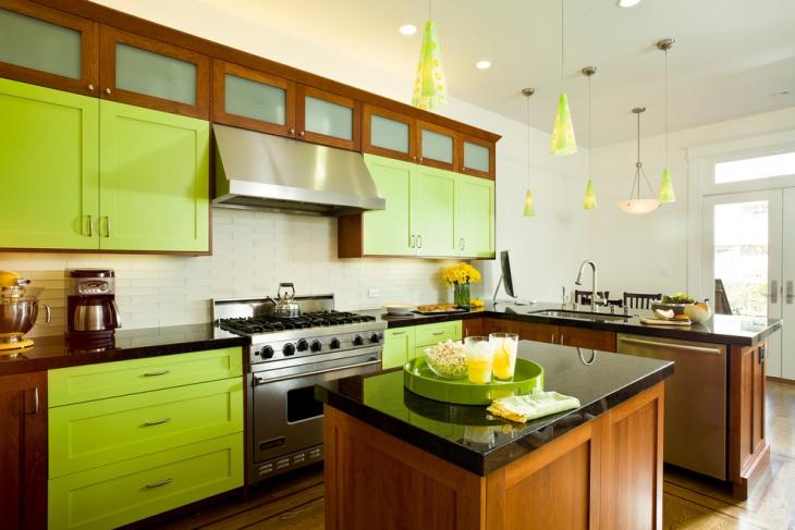 Vintage Kitchen Green Cabinet