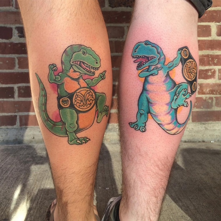 Dinosaur Tattoo for Legs