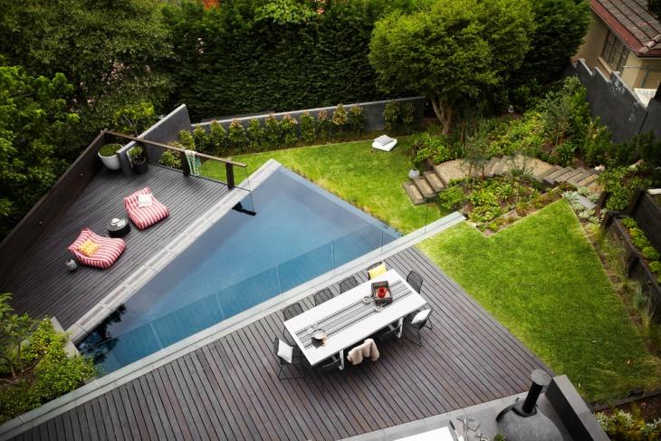 backyard wooden deck design
