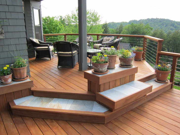 wooden deck railing design