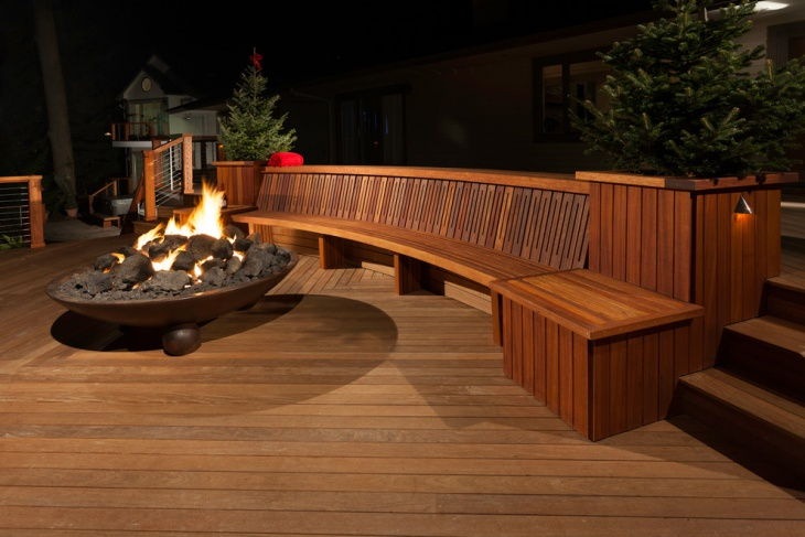 traditional wooden deck idea