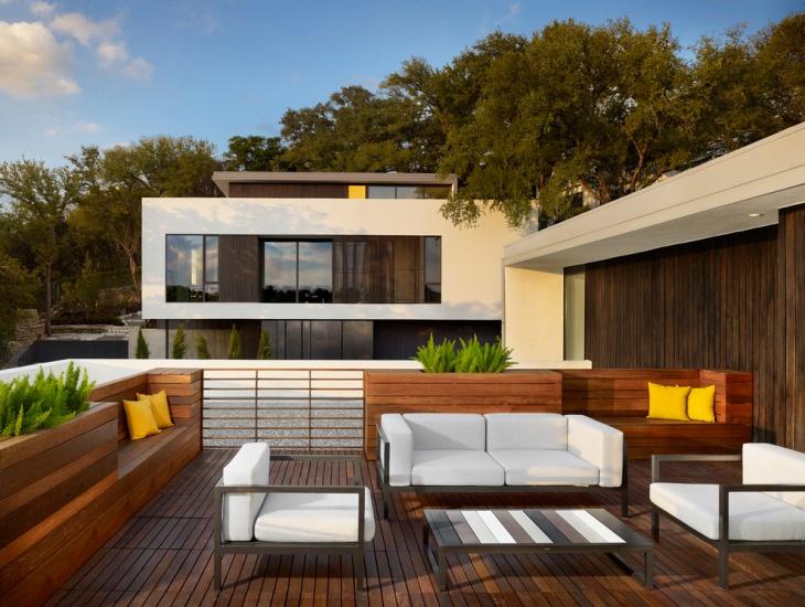modern wooden deck