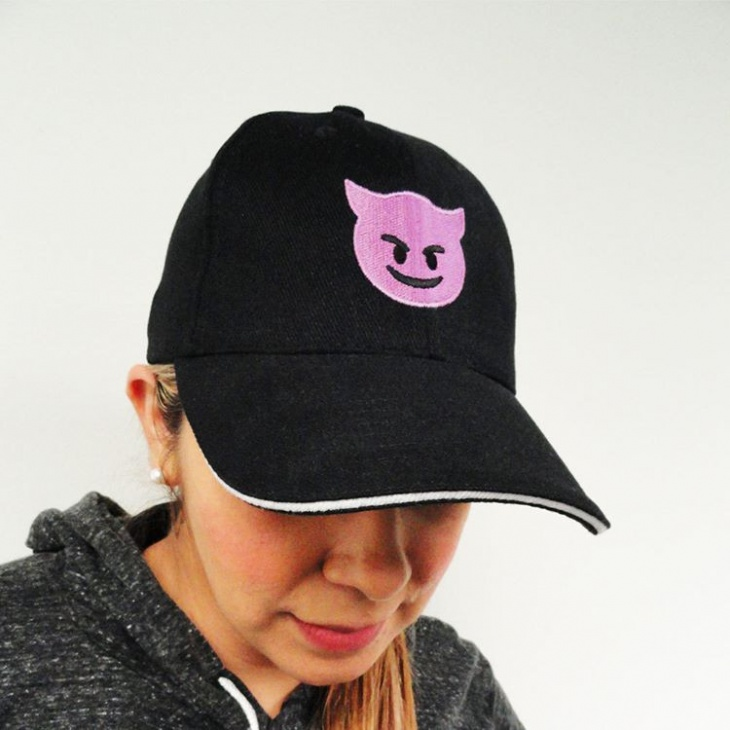 angry emoji hat idea