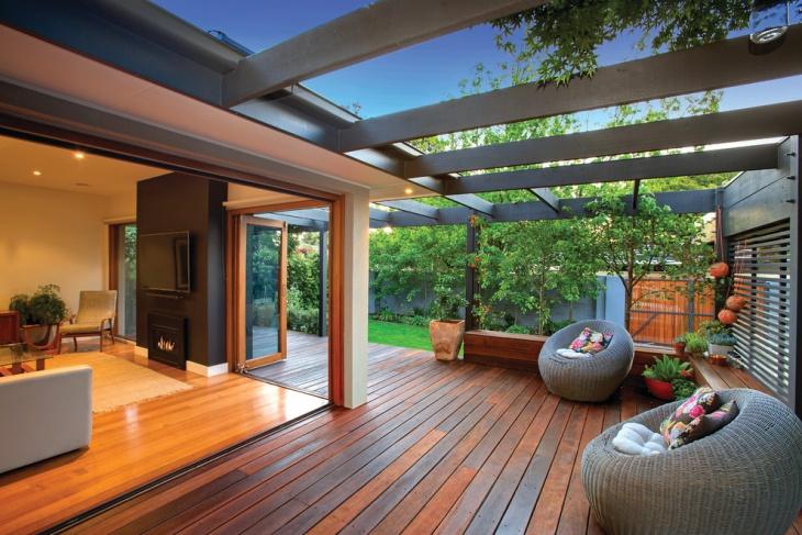 classic wooden deck design