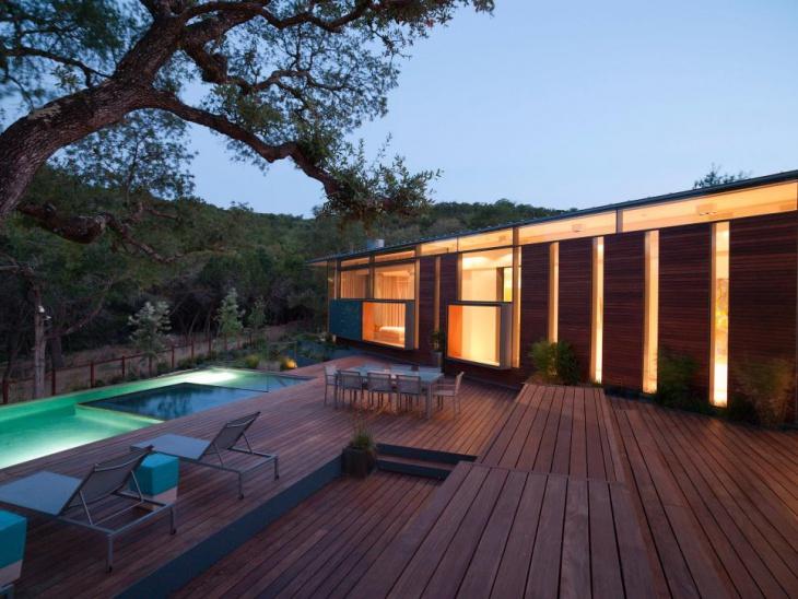 hardwood deck design